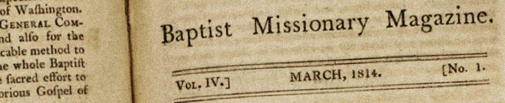 Baptist Missionary Magazine, International Ministries