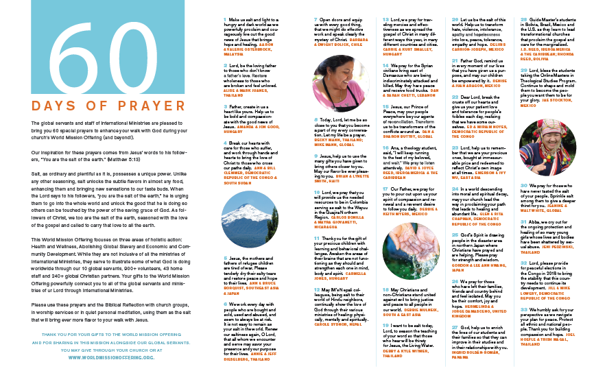 60 Days of Prayer Brochure