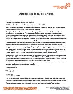 Letra del Director Ejecutivo