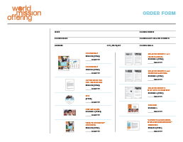 WMO Order Form