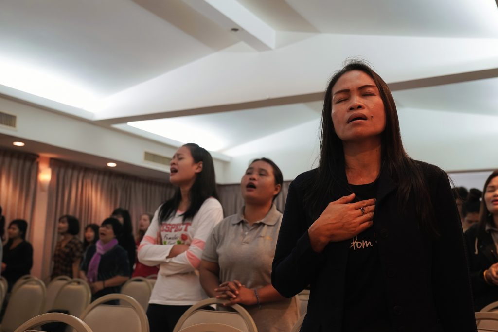Worship at Song Sawang Church in Thailand