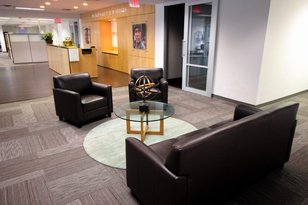 International Ministries lobby seating