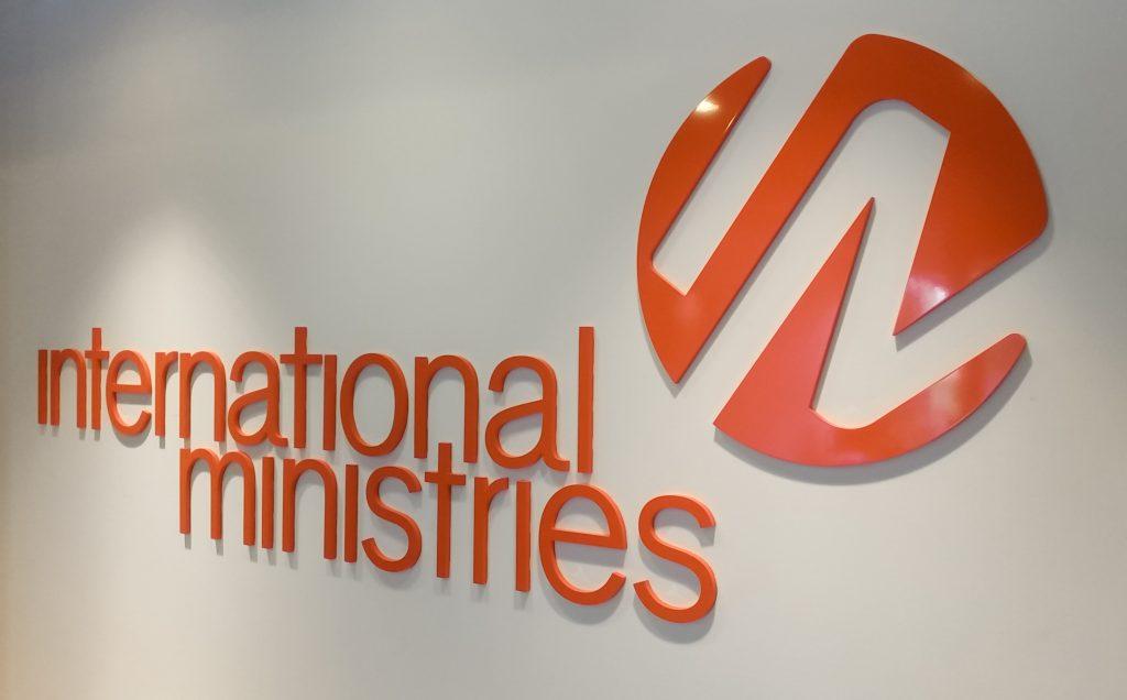 International Ministries logo sign