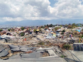 2018 tsunami damage in Sulawesi, Indonesia