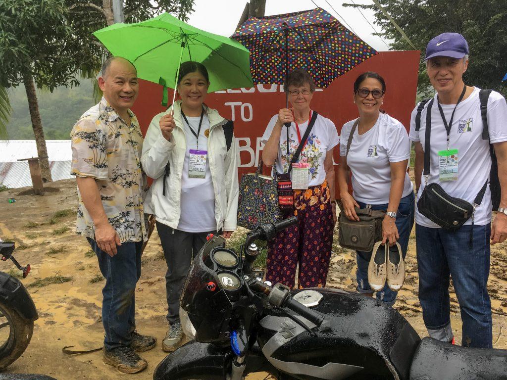 Fellow pilgrims: Shirley, Roberta, Henna, Inoue
