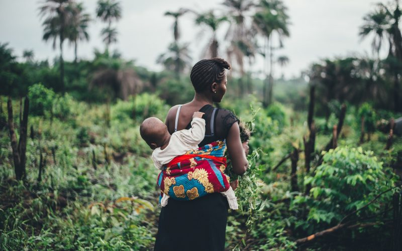 baby and mom in congo