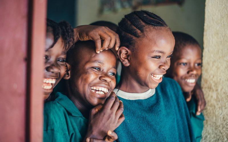 smiling african children
