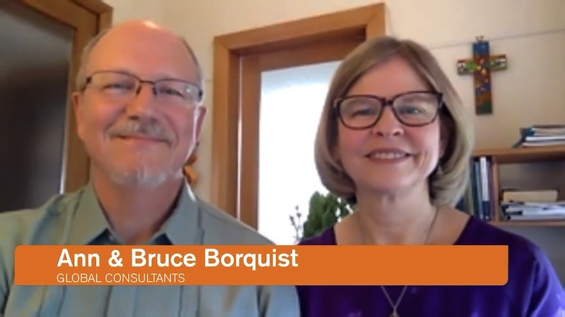 Bruce and Ann on the livestream