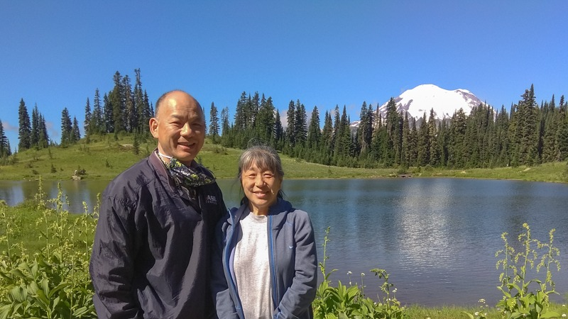 Hwangs at Lake Tipsoo, Mt. Rainier