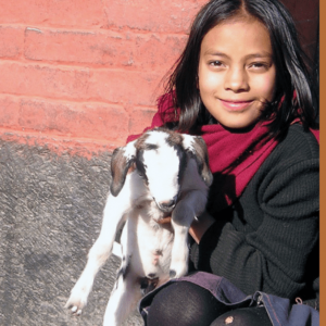 Global Gifts Photo - Girl with Goat