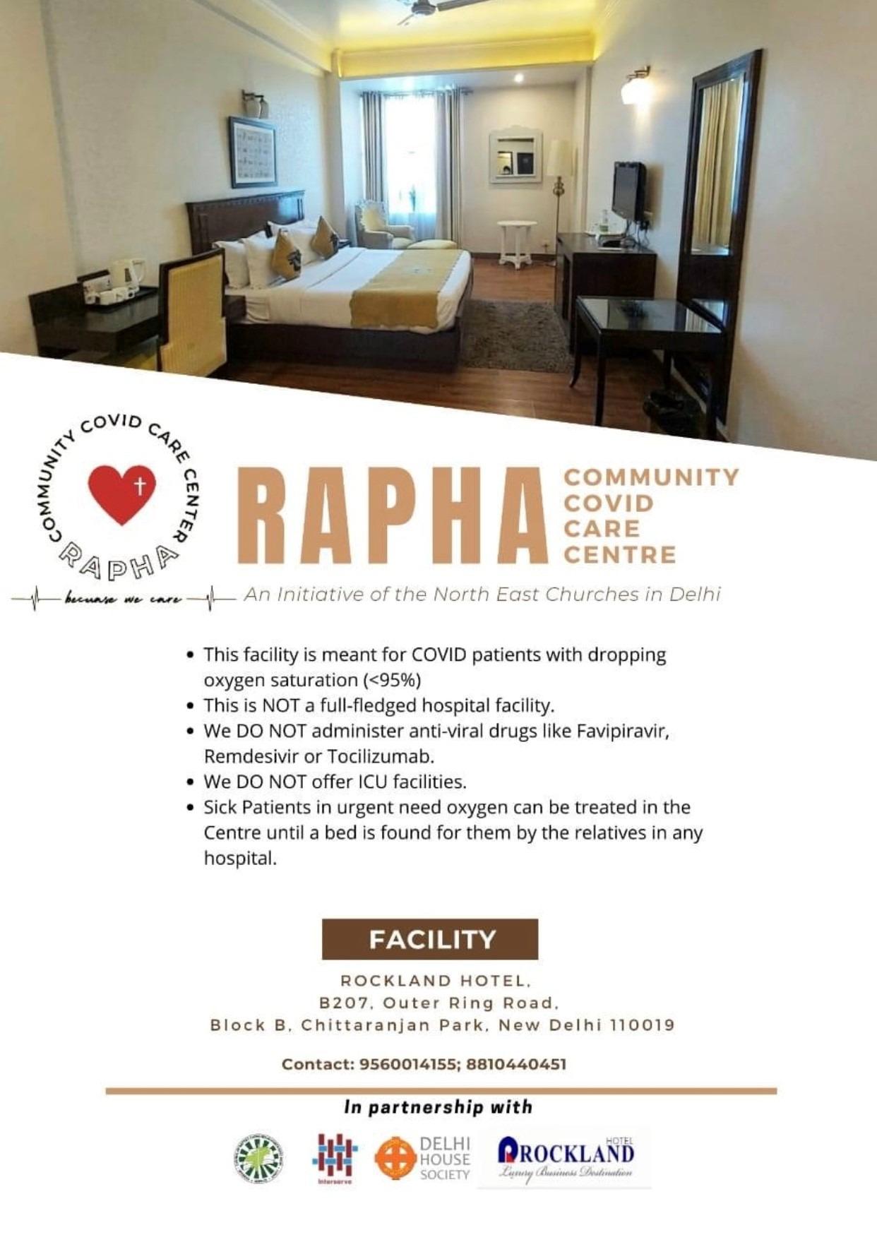 Rapha Community COVID Care Center in Delhi Inauguration on June 16, 2021